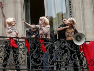 FEMEN attacks Le Pen