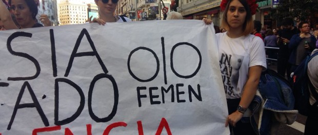 FEMEN protest in Madrid