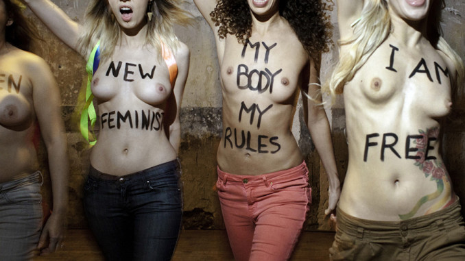 FEMEN + my body my rules