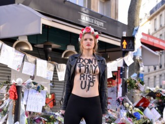 FEMEN honours Paris victims