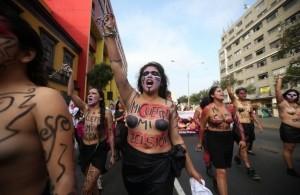 peru topless protest