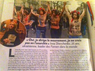 FEMEN in Paris Match