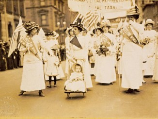 A suffrage parade, New York City, May 6, 1912