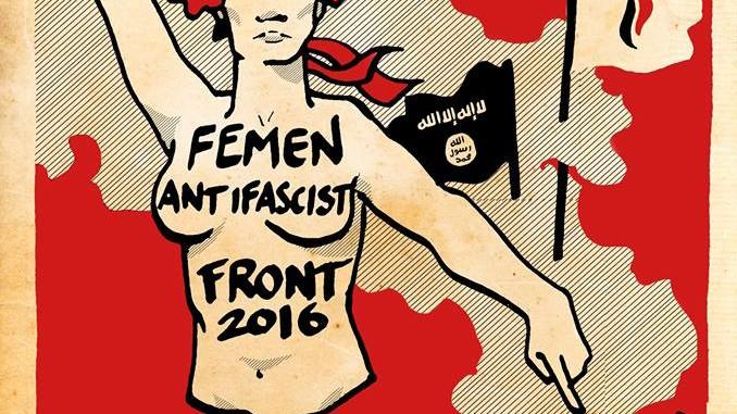 FEMEN Antifascist Front 2016