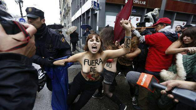 Assured, what Nude protester femen protests