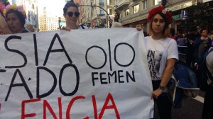 FEMEN protest in Madrid 2